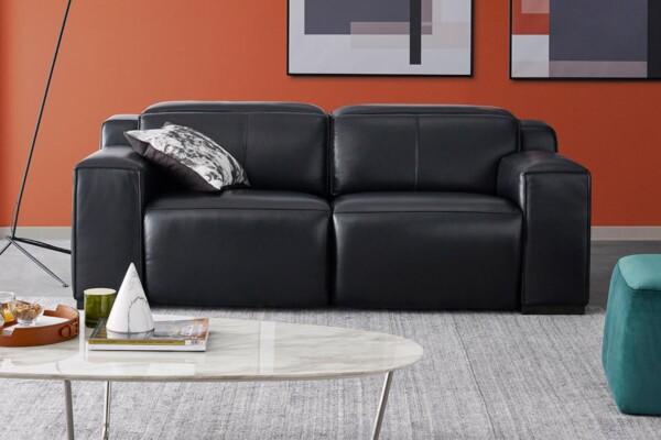 Прямой диван в натуральной коже купить в Киеве. Модель RS-11501-PR-2.5set