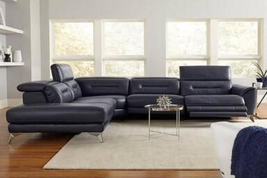 Великий кутовий диван для вітальні у стилі мінімалізм. Модель RS-B5057. Київ Супермаркет Релакс Студіо