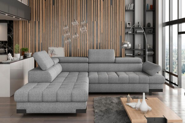 Угловой диван Selva-L купить Киев. С раскладкой для сна и нишей для белья. Супермаркет диванов Релакс Студио