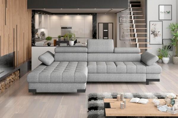 Кутовий диван Selva-Mini купити Київ. З розкладкою для сну та нішею для білизни. Супермаркет диванів Релакс Студіо